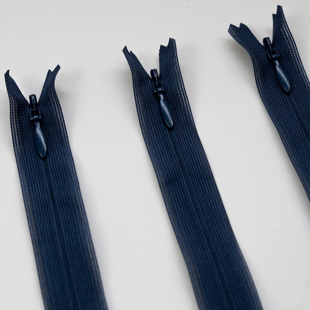 Made to Sew Lightweight Invisible YKK Zipper - Navy