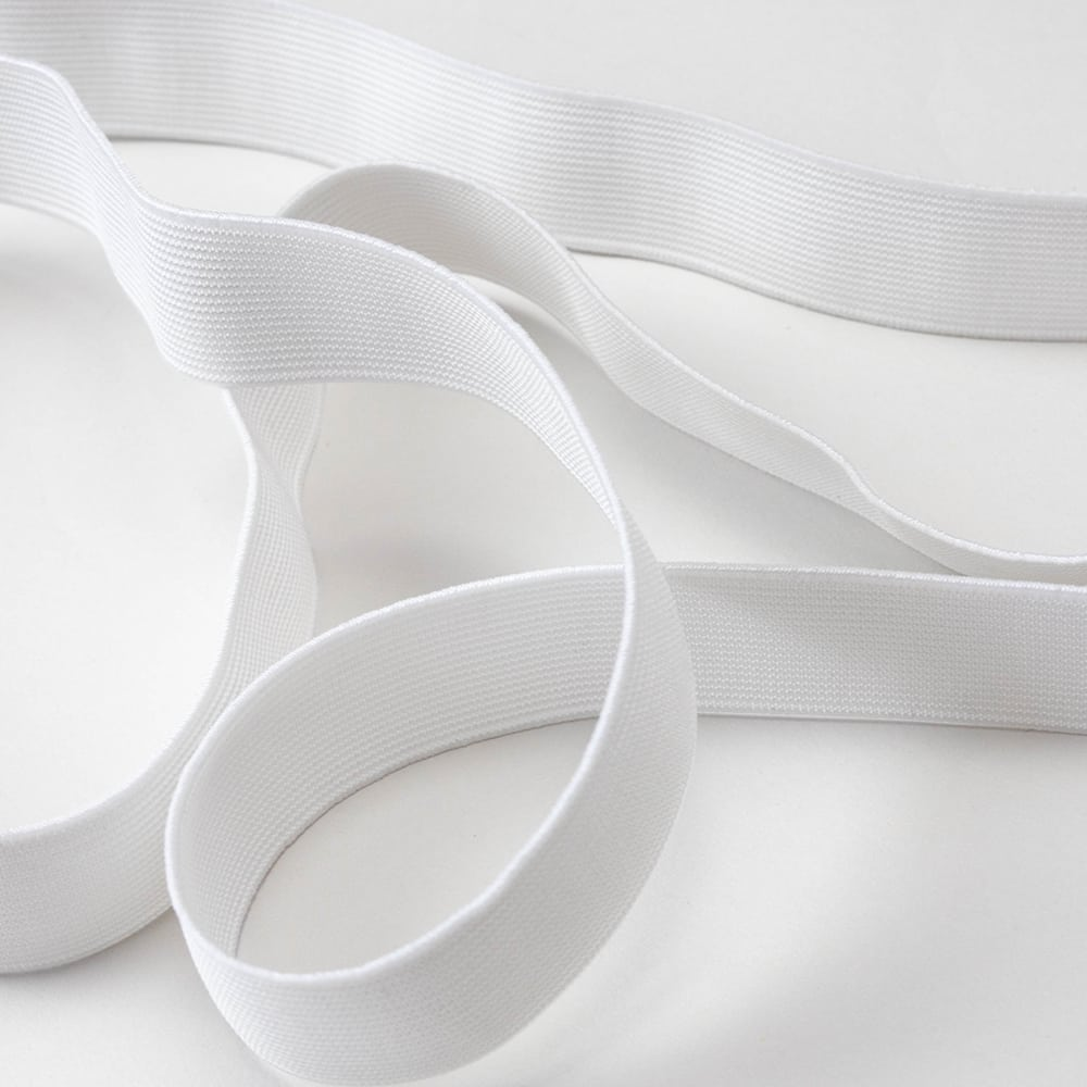 """Made to Sew Woven Elastic 1"""" (2.5cm) - White"""