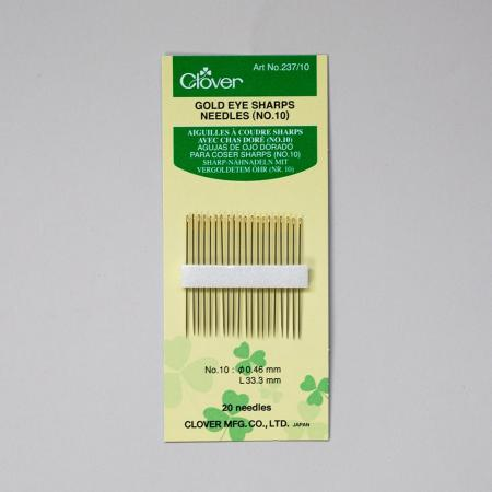 Made to Sew Clover Gold Eye Needles Sharps No.10