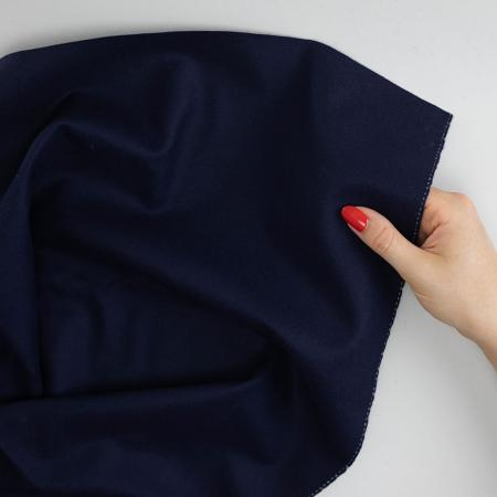 Made to Sew Navy Blue Virgin Wool Fabric